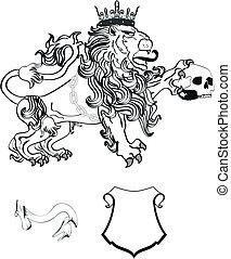 lion heraldic coat of arms tattoo8