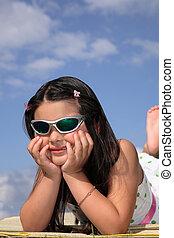 Little Girl in Sunglasses