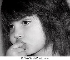 Little Girl Sucking Her Finger