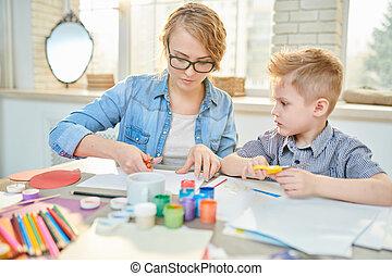 Little Pupil Having Art Class
