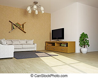 Livingroom with sofas and a table