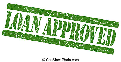 Loan approved grunge green stamp
