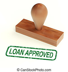 Loan Approved Rubber Stamp Shows Credit Borrowing Ok