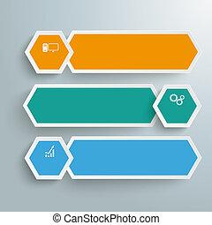 Long Hexagons Development Banner 3 Steps PiAd