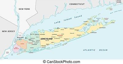 long island vector map
