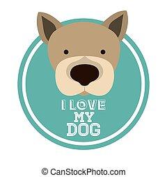 Love pet design over white background, vector illustration