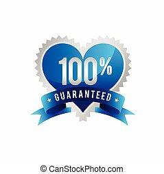 Love Quality 100% Guaranteed template symbol
