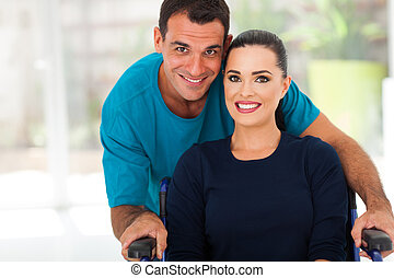 loving husband and diabled wife