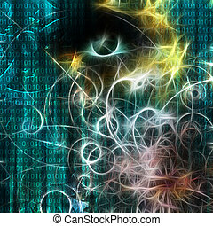 Machine binary and human like visage