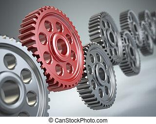 Machine gears. Teamwork concept.