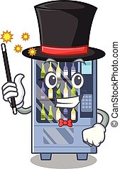 Magician wine vending machine mascot shaped character