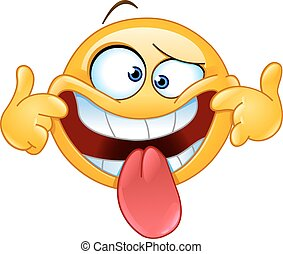 Emoticon making a funny face
