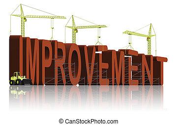 tower cranes building 3D word improvement