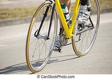 Male Athlete Riding Bicycle