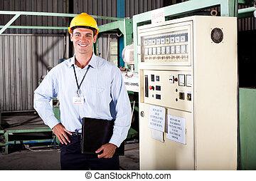 male industrial engineer