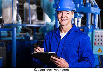 male industrial technician