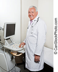 Male Radiologist At Clinic
