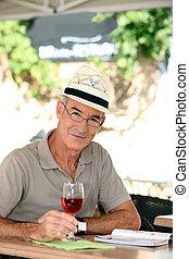 Man enjoying retired life