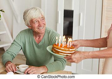 Man has a birthday
