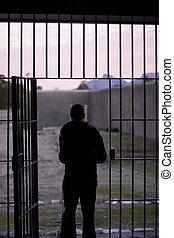Man Leaving Prison