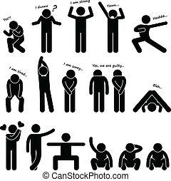 Man People Posture Body Language