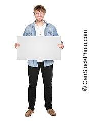 Man showing sign