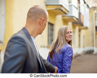 Man trying to get acquainted with woman