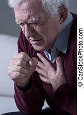 Man with dyspnoea