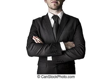 Manager with crossed arms