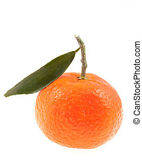 mandarin isolated on a white
