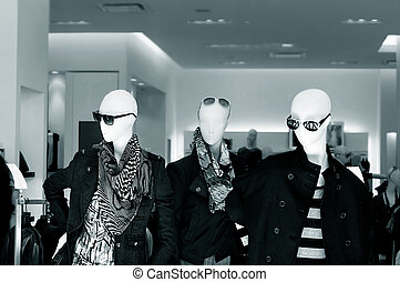 Mannequins in a fashion store