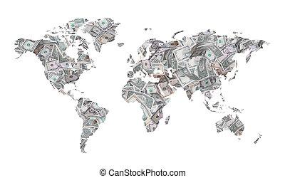 map of dollars