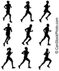 marathon silhouettes
