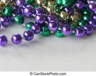 Mardi Gras Beads close up top
