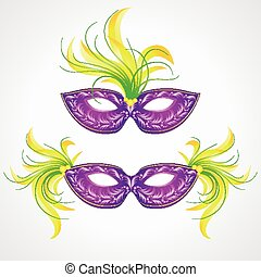 Mardi Gras carnival mask. Vector illustration