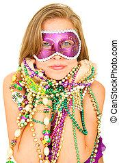Mardi Gras Queen In Mask
