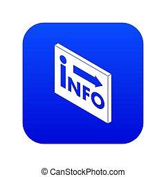 Market info icon blue