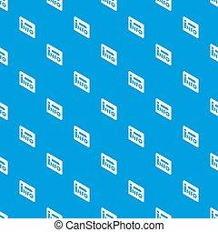 Market info pattern seamless blue