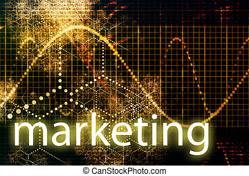 Marketing Abstract Technology Business Concept Wallpaper Background