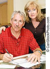 Mature Couple - Financial Worries