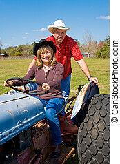 Mature Couple on Farm