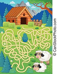 Maze 30 with sheep theme
