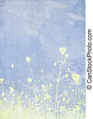 Meadow flower pale blue background
