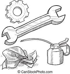 Mechanic objects sketch
