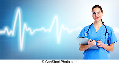 Medical doctor woman. Health care.