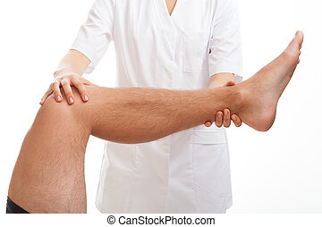 Medical examination of leg