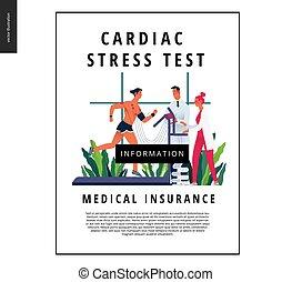 Medical tests template - cardiac stress test