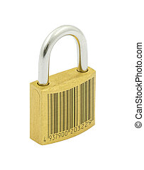 metaphor of secured by code, barcode is fake