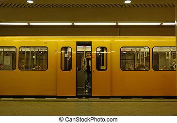 Metro ready to depart, Berlin