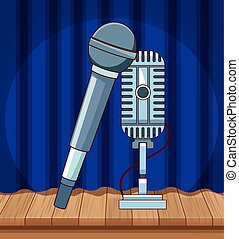 microphones sound audio stand up comedy show